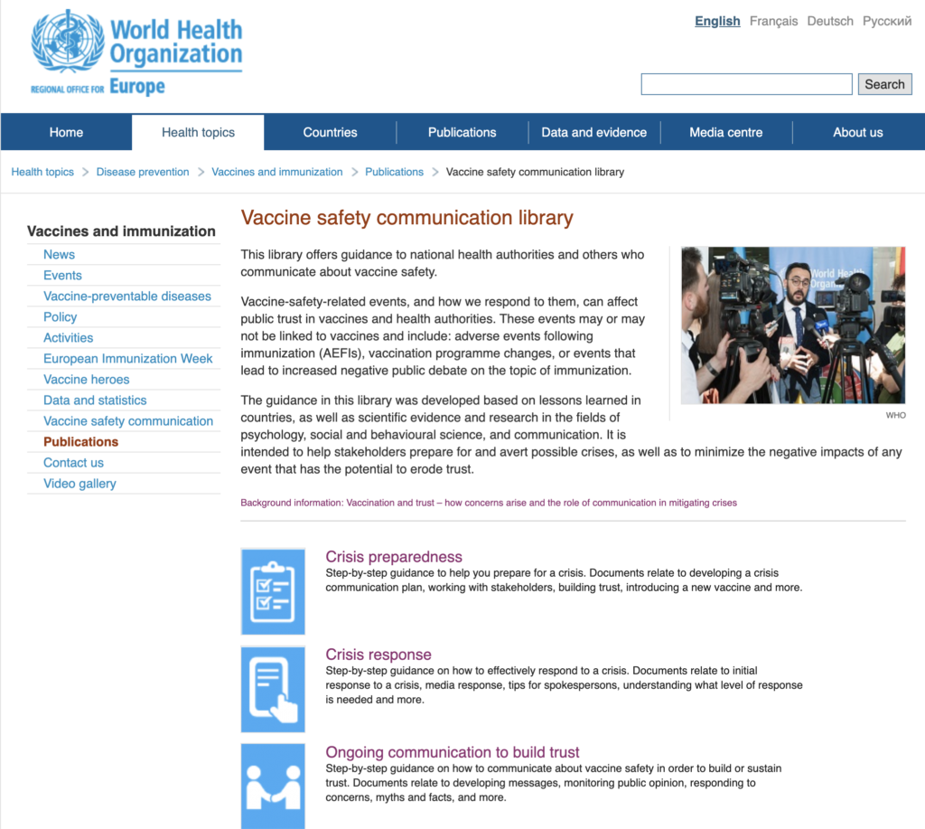 Vaccine Safety Library